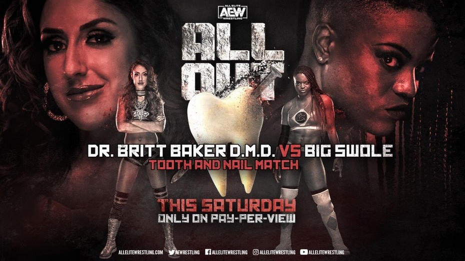 Britt Baker vs Big Swole Tooth and Nail Match